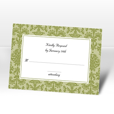 Clearly Refined - Kiwi - Respond Card and Envelope