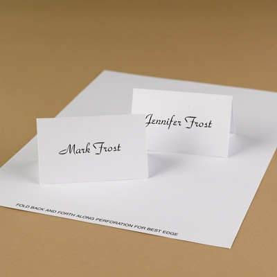 Classic White Place Cards
