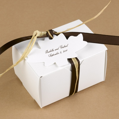 Maple Leaf Favor Tags - White