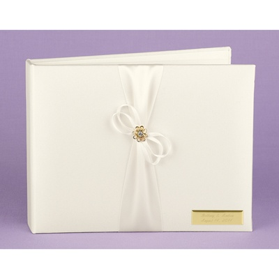 Sparkling Flower Guest Book