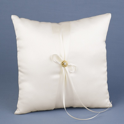 Sparkling Flower Ring Bearer Pillow