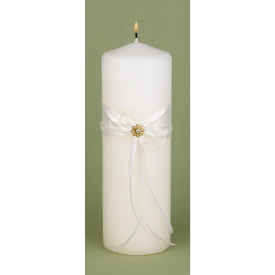 Sparkling Flower Unity Candle