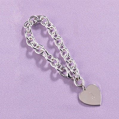 Flower Girl Heart Charm Bracelet