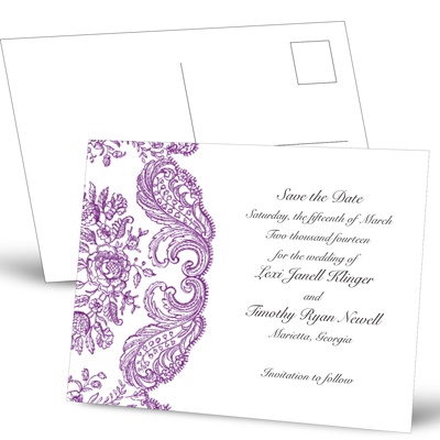 Forever Flourish - Grapevine - Save the Date Postcard