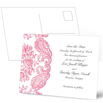 Forever Flourish - Lipstick - Save the Date Postcard