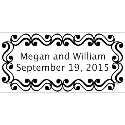 Scrollwork Personalized Wedding Labels