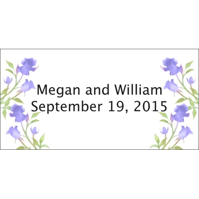 Hydrangea Watercolor Roses Personalized Wedding Labels