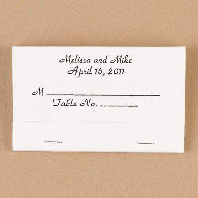 White Place Card Matchbooks