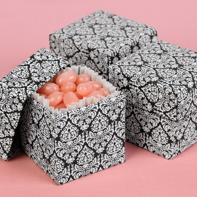 Damask Favor Boxes (2-Piece)
