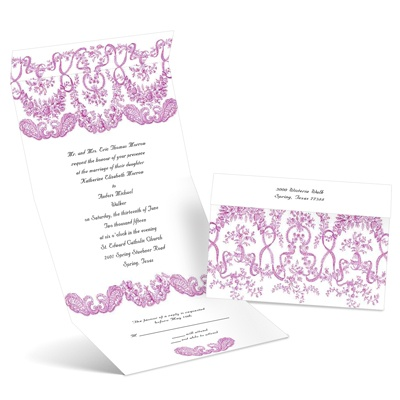 Baroque Beauty - Amethyst - Seal and Send Invitation
