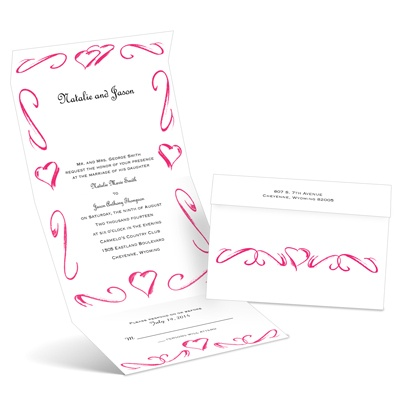 Heartfelt Frame - Lipstick - Seal and Send Wedding Invitation