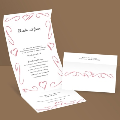 Heartfelt Frame - Petal - Seal and Send Wedding Invitation