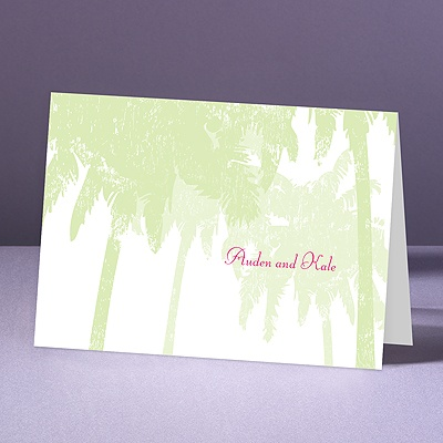 Pretty Palms - Pear - Thank You Note Folder and Envelope