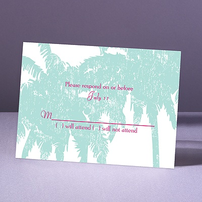 Pretty Palms - Lagoon - Response Card and Envelope