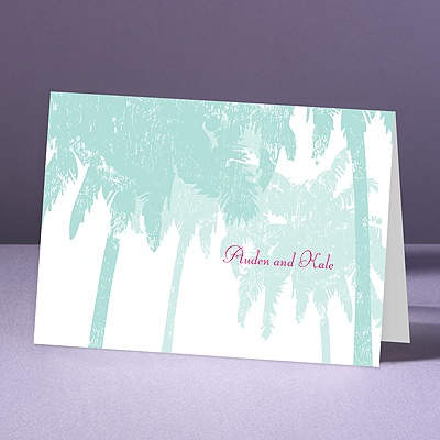 Pretty Palms - Lagoon - Thank You Note Folder and Envelope