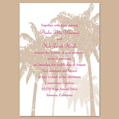 Pretty Palms - Latte - Invitation