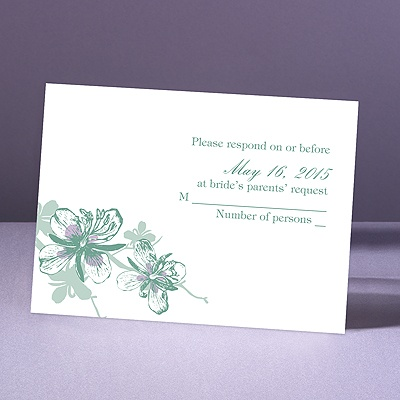 Orchids - Fern - Response Card and Envelope