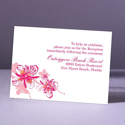 Orchids - Lipstick - Reception Card
