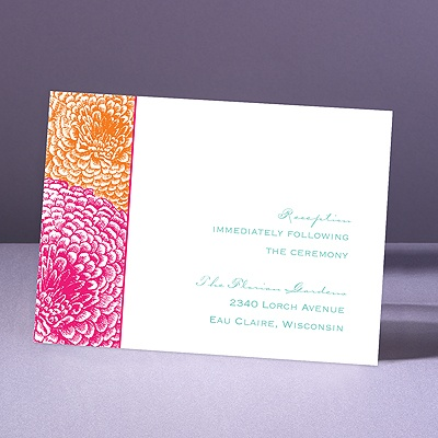 Pair of Mums - Lipstick/Tangerine - Reception Card