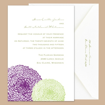 Pair of Mums - Grapevine/Pear - Invitation