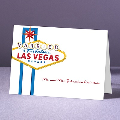 Fabulous Vegas - Blue - Thank You Note Folder and Envelope