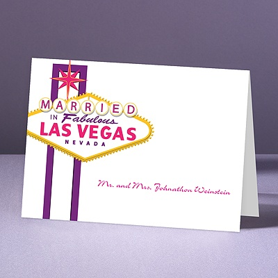 Fabulous Vegas - Grapevine - Thank You Note Folder and Envelope