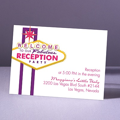 Fabulous Vegas - Grapevine - Reception Card