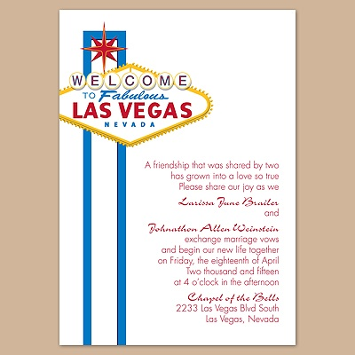 Fabulous Vegas - Blue - Invitation