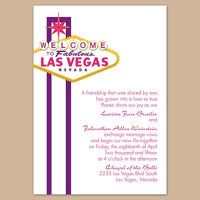 Fabulous Vegas - Grapevine - Invitation