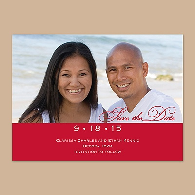 Classic - Barn Red - Photo Save the Date