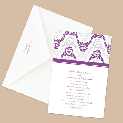 Damask Arches - Grapevine - Invitation
