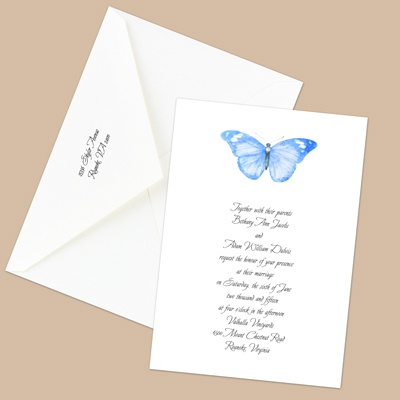 Butterfly in Blue - Invitation