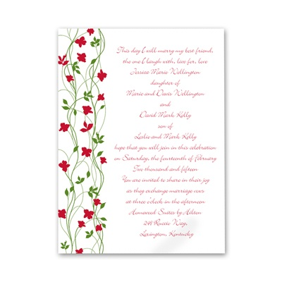 Climbing Vines - Barn Red - Petite Invitation
