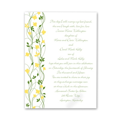 Climbing Vines - Canary - Invitation