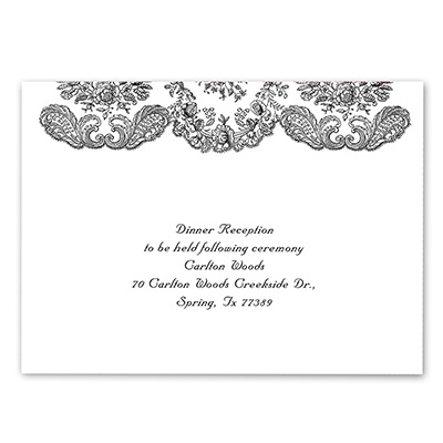 Forever Flourish - Ebony - Reception Card