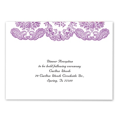 Forever Flourish - Grapevine - Reception Card