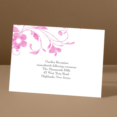 Pretty Floral - Lipstick - Reception Card
