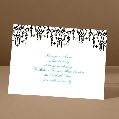 Chandelier Chic - Ebony - Reception Card