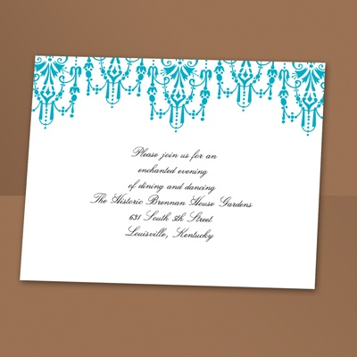 Chandelier Chic - Palm - Reception Card