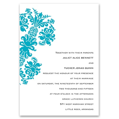 Dramatic Accent - Palm - Invitation with Free Respond Postcard
