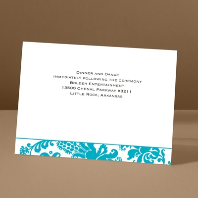 Dramatic Accent - Palm - Reception Card
