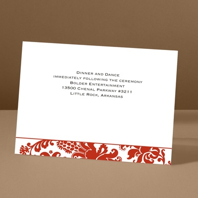 Dramatic Accent - Scarlet - Reception Card