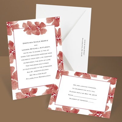 Soft and Sweet - Barn Red - Invitation