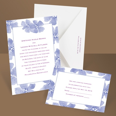 Soft and Sweet - Hydrangea - Invitation
