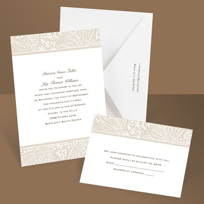 Blossoming Beauty - Latte - Invitation