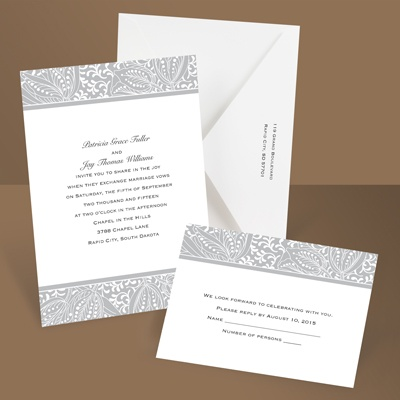 Blossoming Beauty - Gray - Invitation