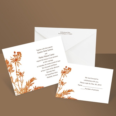 Growing Love - Tangerine - Invitation