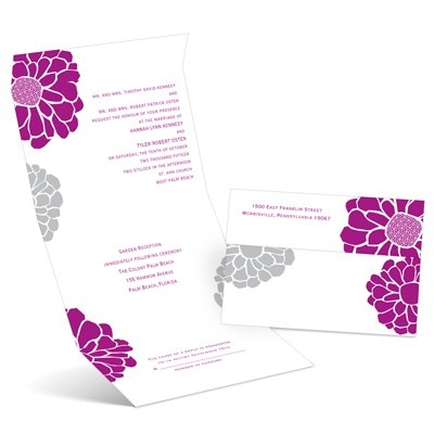 Pop of Floral - Amethyst - Seal and Send Invitation