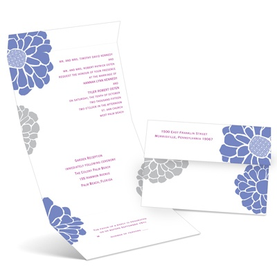 Pop of Floral - Hydrangea - Seal and Send Invitation