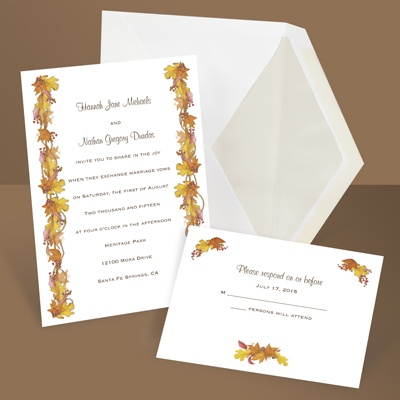 Fall Foliage - Invitation